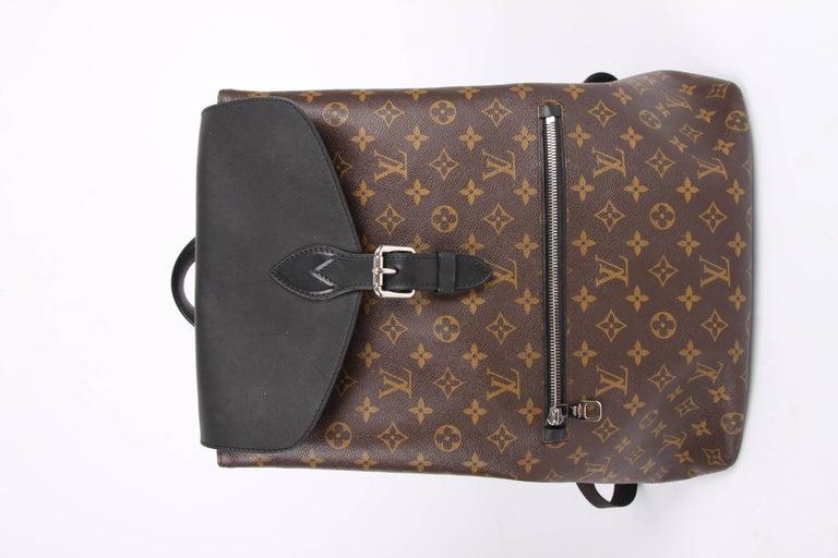 Louis Vuitton Monogram Macassar Canvas Palk Backpack Bag - brown/black For Sale 1