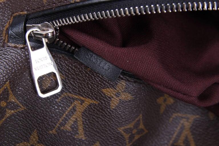 Louis Vuitton Monogram Macassar Canvas Palk Backpack Bag - brown/black For Sale 2