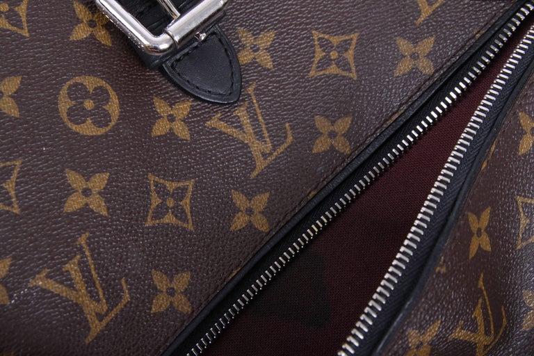 Black Louis Vuitton Monogram Macassar Canvas Palk Backpack Bag - brown/black For Sale