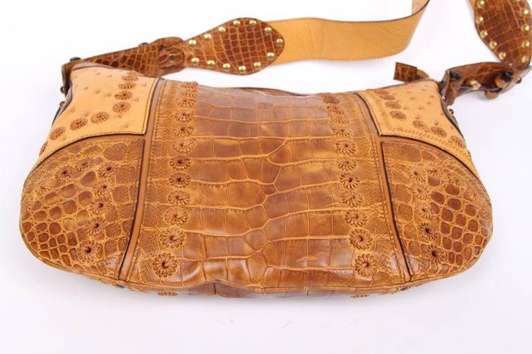 07a606628f5 Gucci Pelham Shoulder Bag Ostrich   Crocodile leather - brown For Sale 3