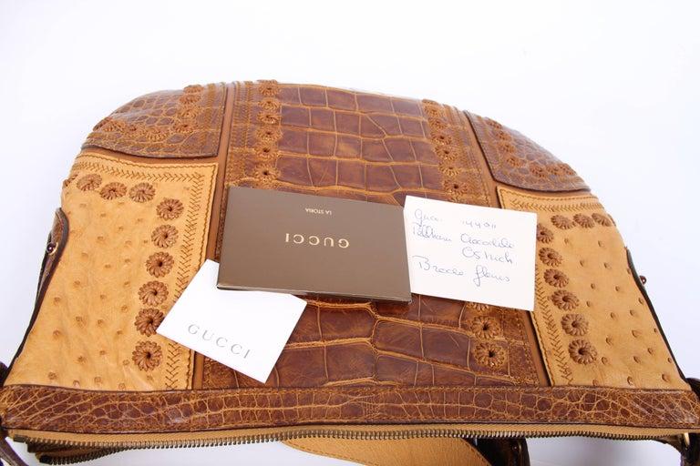 97928ca342c Women s Gucci Pelham Shoulder Bag Ostrich   Crocodile leather - brown For  Sale