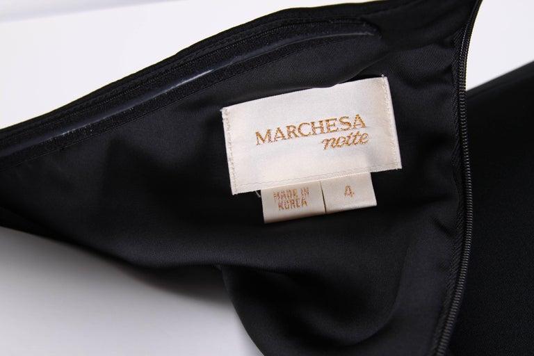 Marchesa Notte One-Shoulder Silk Dress - black   Marchesa Notte One-Shoulder S In New never worn Condition For Sale In Baarn, NL
