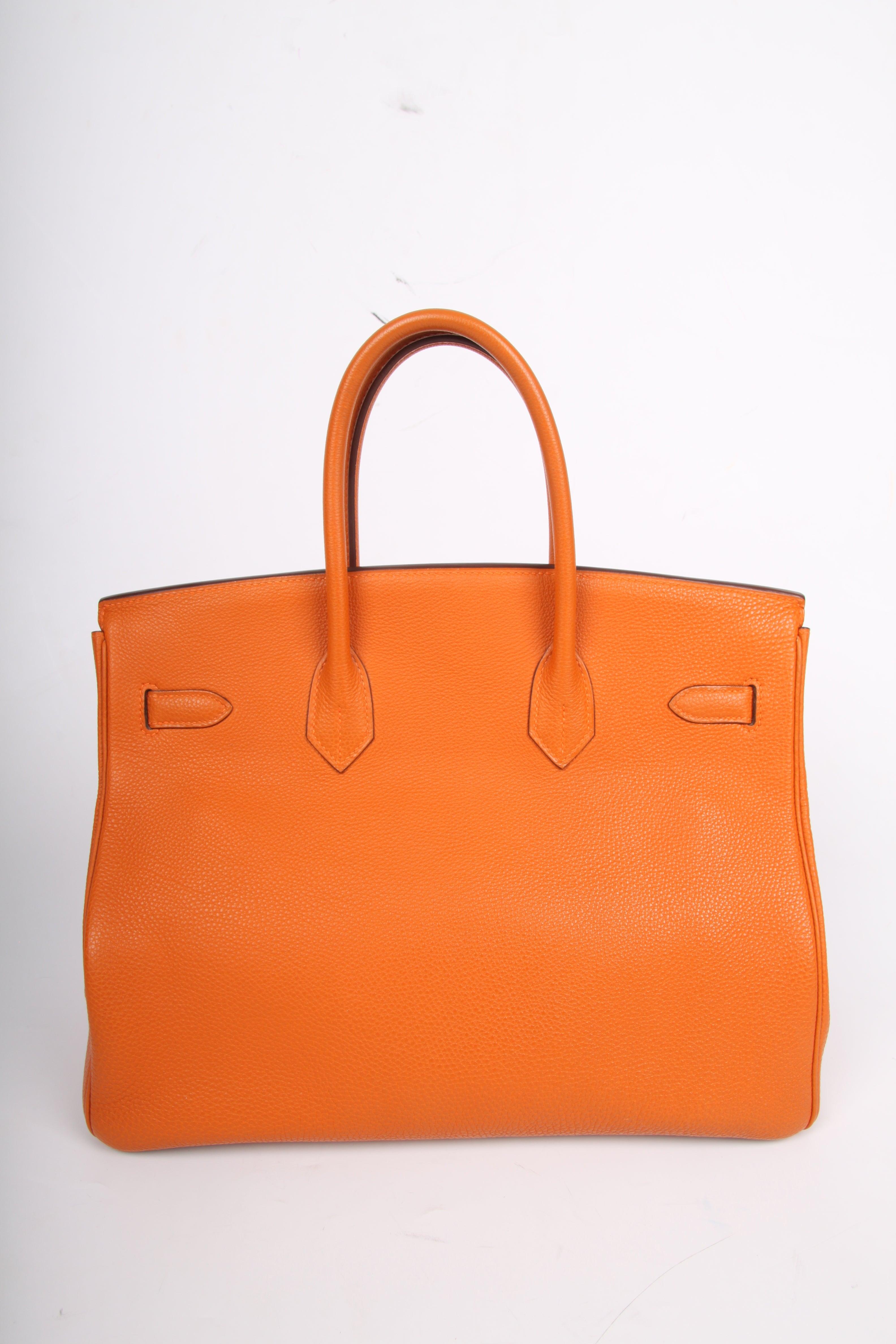 dcc768133236 Hermes Birkin Bag 35 Togo Potiron - silvertone hardware For Sale at 1stdibs