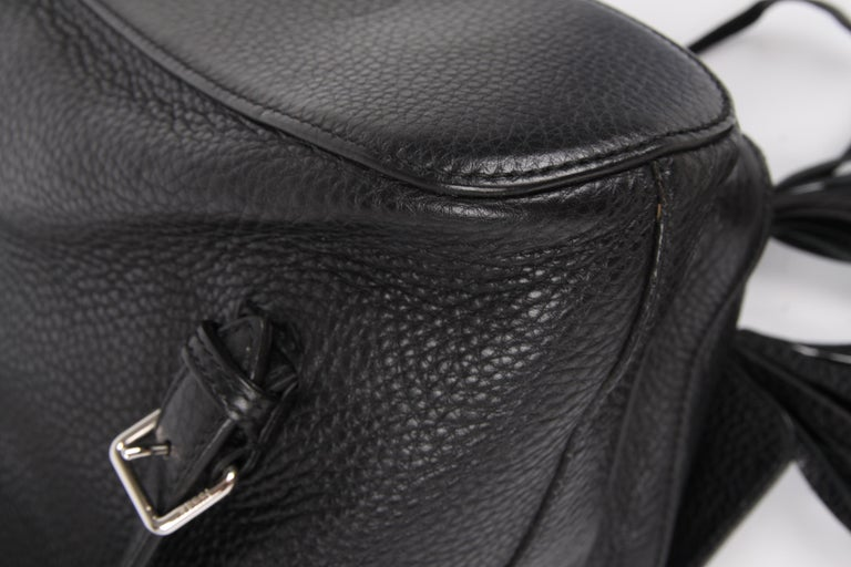 89b50d31859f Gucci Bamboo Tassel Leather Backpack - black For Sale at 1stdibs