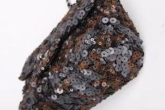 Chanel Mini Classic Sequin Bag - grey/black