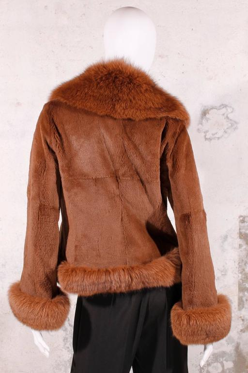 Black Fur Coat - fox & rabbit brown 3