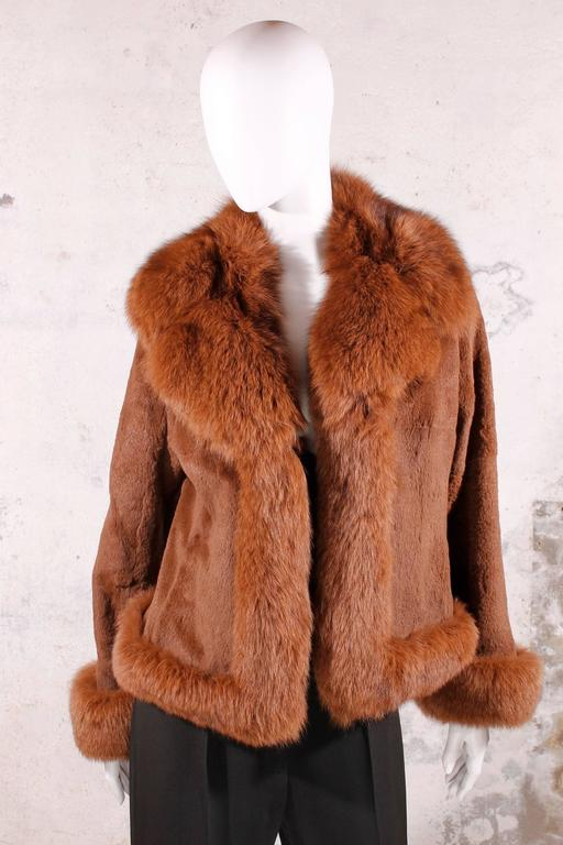 Black Fur Coat - fox & rabbit brown 6
