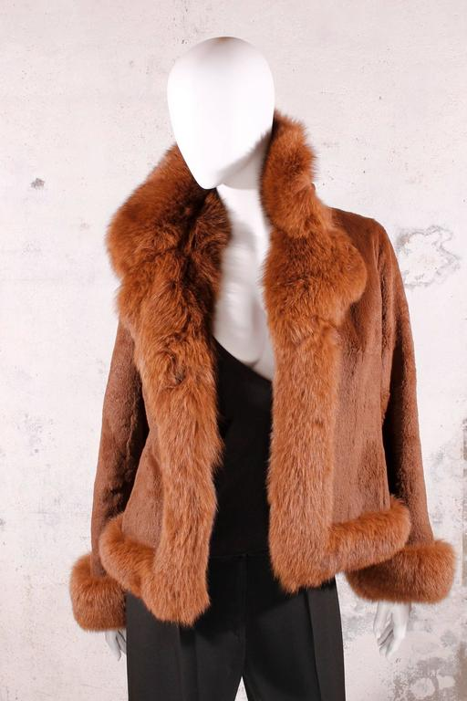 Black Fur Coat - fox & rabbit brown 4
