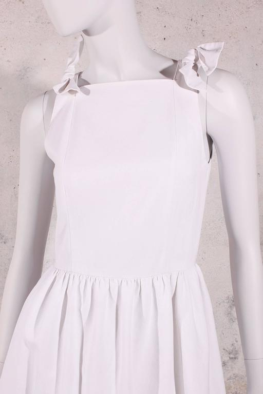 1980s Chanel Dress White In Good Condition For Sale In Baarn, NL