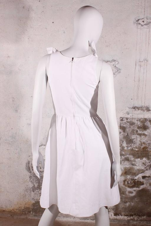 Gray 1980s Chanel Dress White For Sale