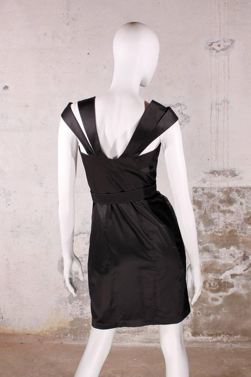 1980's Vintage Thierry Mugler - black dress In New Never_worn Condition For Sale In Baarn, NL