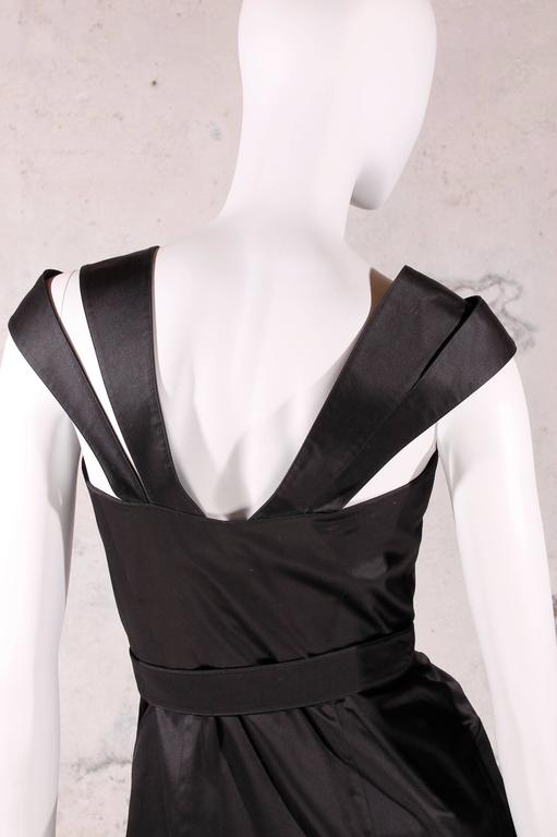 Women's 1980's Vintage Thierry Mugler - black dress For Sale