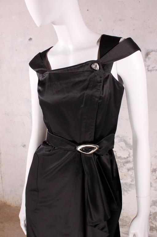 Black 1980's Vintage Thierry Mugler - black dress For Sale