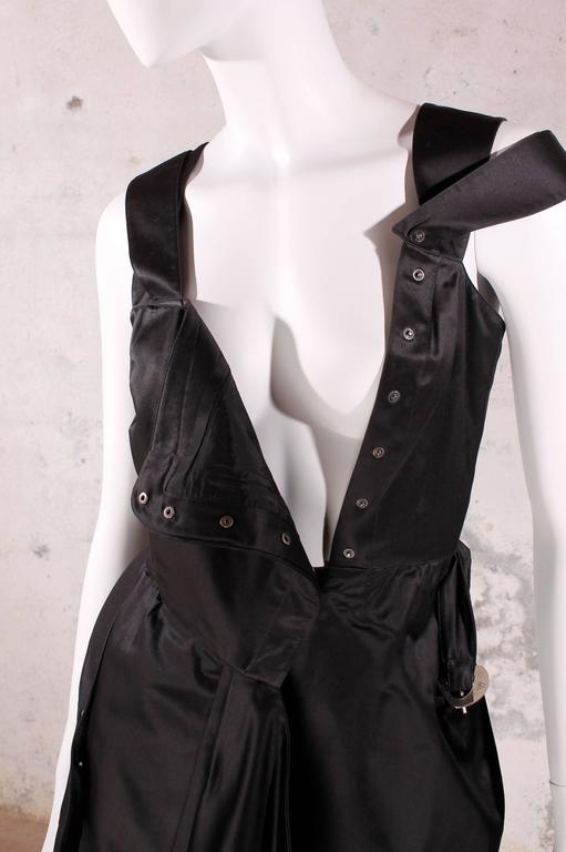 1980's Vintage Thierry Mugler - black dress For Sale 1