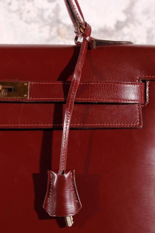 e4638bf48da3 1960 Vintage Hermès Kelly Bag 32 Burgundy at 1stdibs