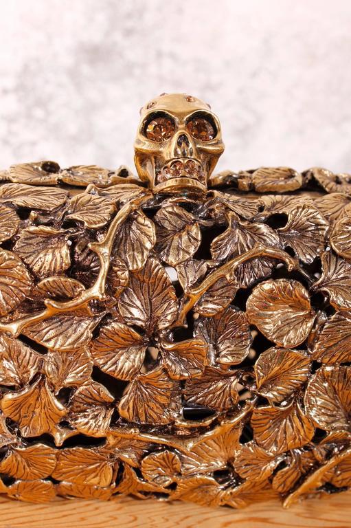 Alexander McQueen Leaf and Thorn Box Metal Clutch 4