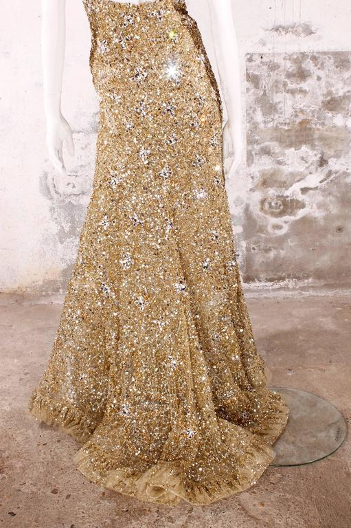 Elie Saab Haute Couture Evening Gown - golden beads & sequins 2