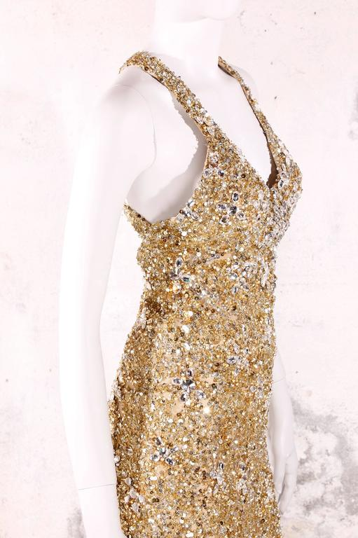 Elie Saab Haute Couture Evening Gown - golden beads & sequins 8