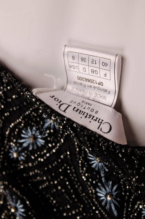 Christian Dior Evening Dress - black beads/embroidery In New Never_worn Condition For Sale In Baarn, NL