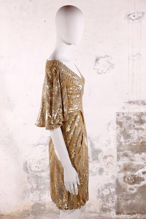 Elie Saab Cocktaildress Gold - sequins & beads In New Never_worn Condition For Sale In Baarn, NL