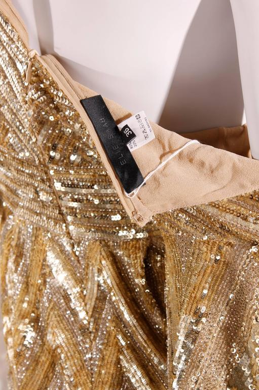 Women's Elie Saab Cocktaildress Gold - sequins & beads For Sale