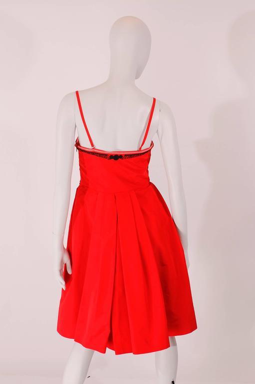 Red Dior Strapless Dress - red/black