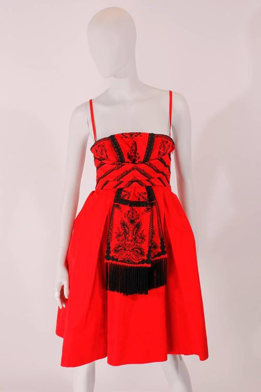 Dior Strapless Dress - red/black In New Condition In Baarn, NL