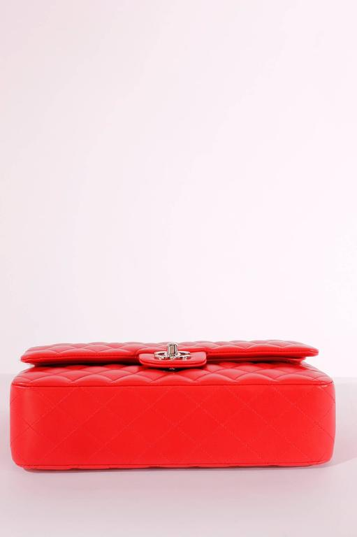 2005 Chanel 2.55 Medium Classic Double Flap Bag - red/silver 3