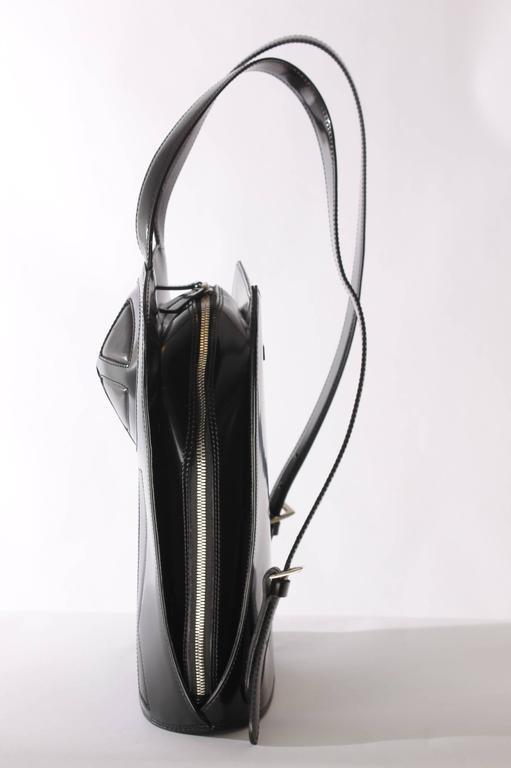 Jean Paul Gaultier Bustier Backpack - shiny black leather 1998 2