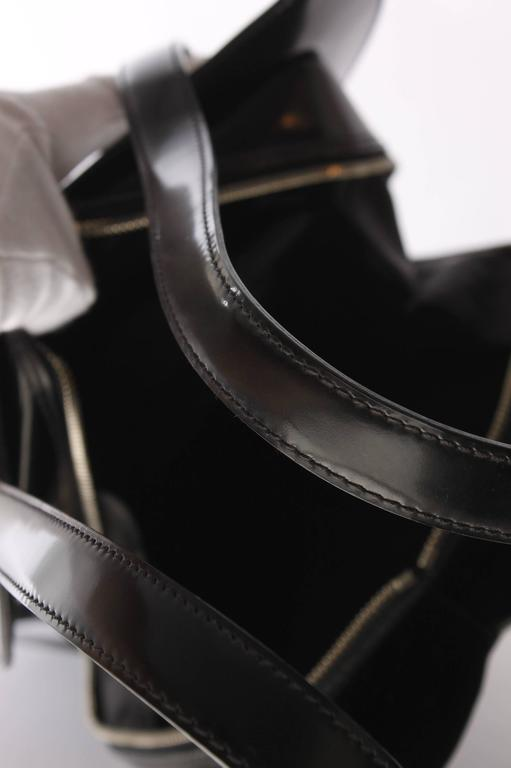Jean Paul Gaultier Bustier Backpack - shiny black leather 1998 3