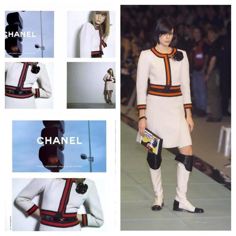 Chanel 4-pcs Suit - cream/red/black wool 7