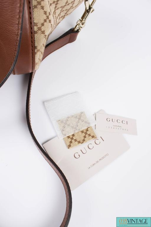 Gucci Blue Denim Medium Soho Tote Bag - blue denim/brown leather In New never worn Condition For Sale In Baarn, NL