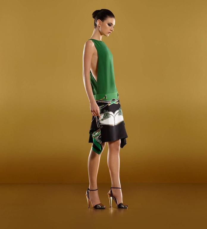 Gucci Silk Back Drape Dress - green For Sale at 1stdibs