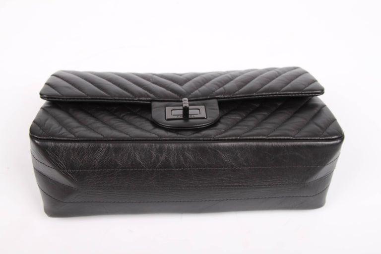 d13ce3b31127 Women's Chanel 2.55 Reissue Chevron 224 Flap Bag - So Black For Sale