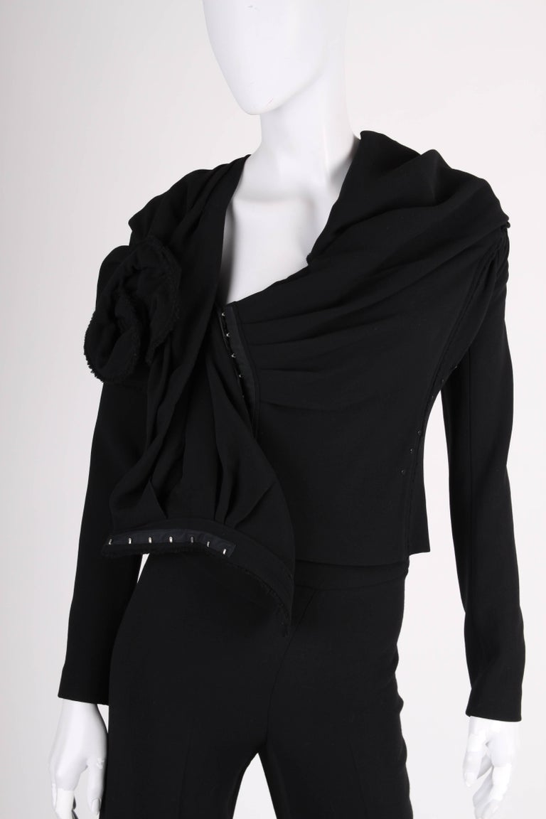 Donna Karan 2-pcs Suit - black In Good Condition For Sale In Baarn, NL