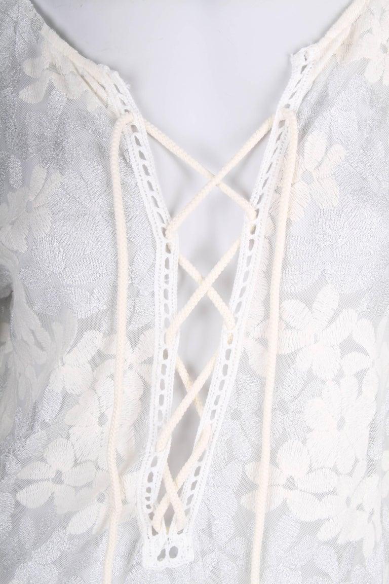 Gray   Raffaela d´Angelo Tunic Beach Dress - white/silve For Sale
