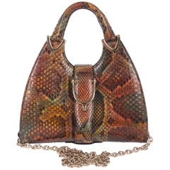 Gucci Mini Python Stirrup Top Handle Bag - multi color