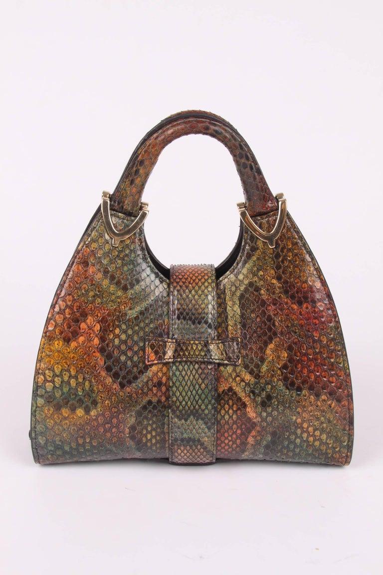 Gucci Mini Python Stirrup Top Handle Bag - multi color For Sale 1
