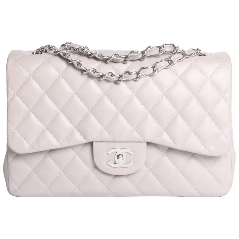 Chanel Timeless 2.55 Jumbo Flap Bag - gray-Crossbody