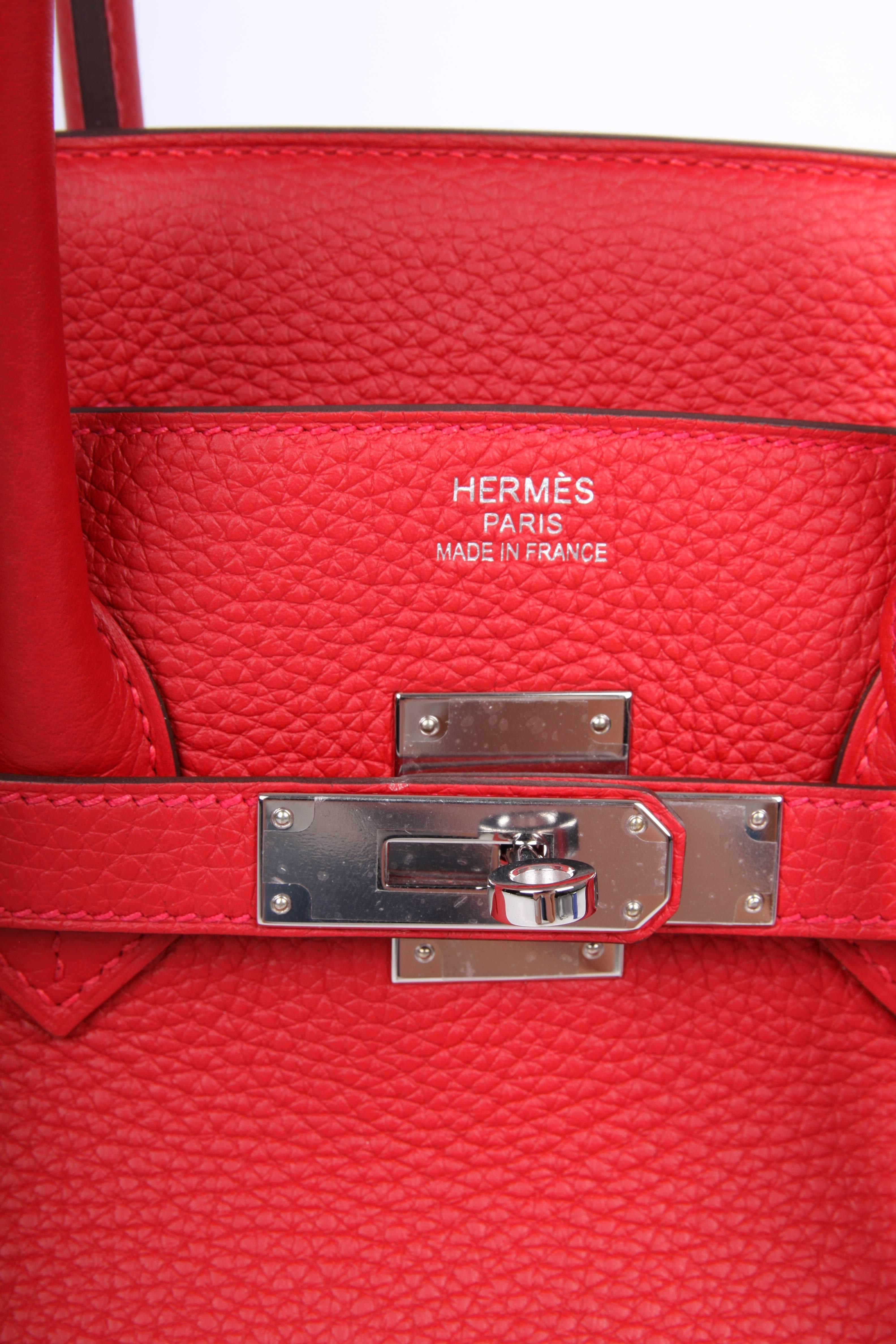 815d593316 ... reduced hermes birkin bag 35 taurillon clemence rouge casaque  silvertone hardware 2017 for sale 1 2e7ea ...