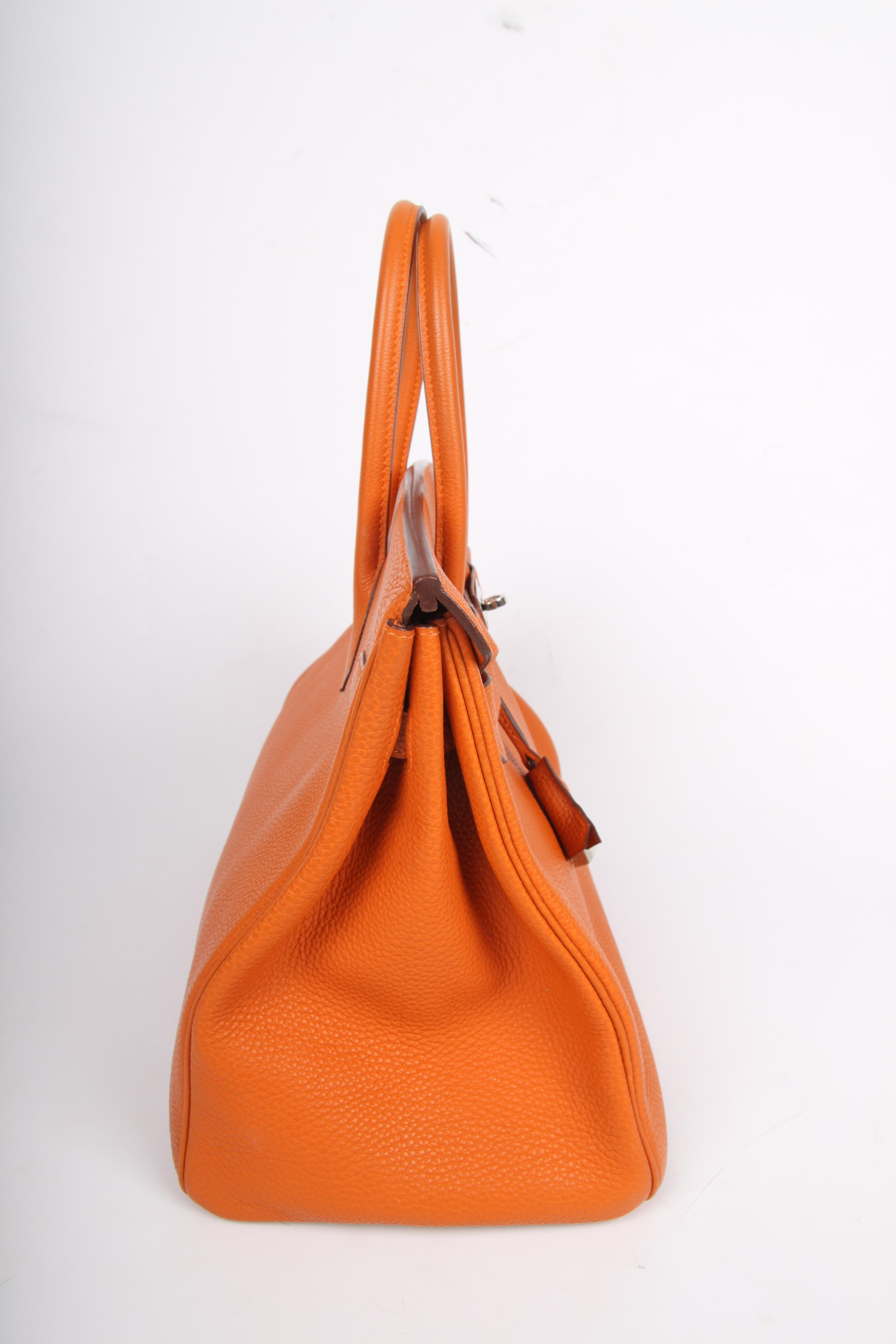 7b46d2b46d0b ... cheapest hermes birkin bag 35 togo potiron silvertone hardware for sale  3 255f9 92487