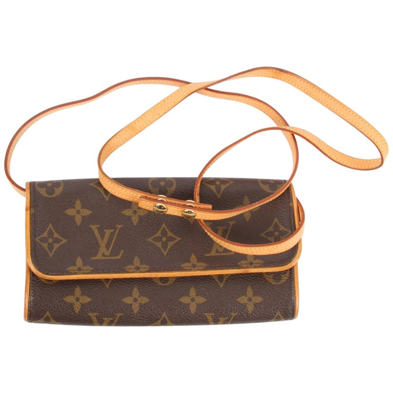 Louis Vuitton Pochette Twin Crossbody Bag Brown For