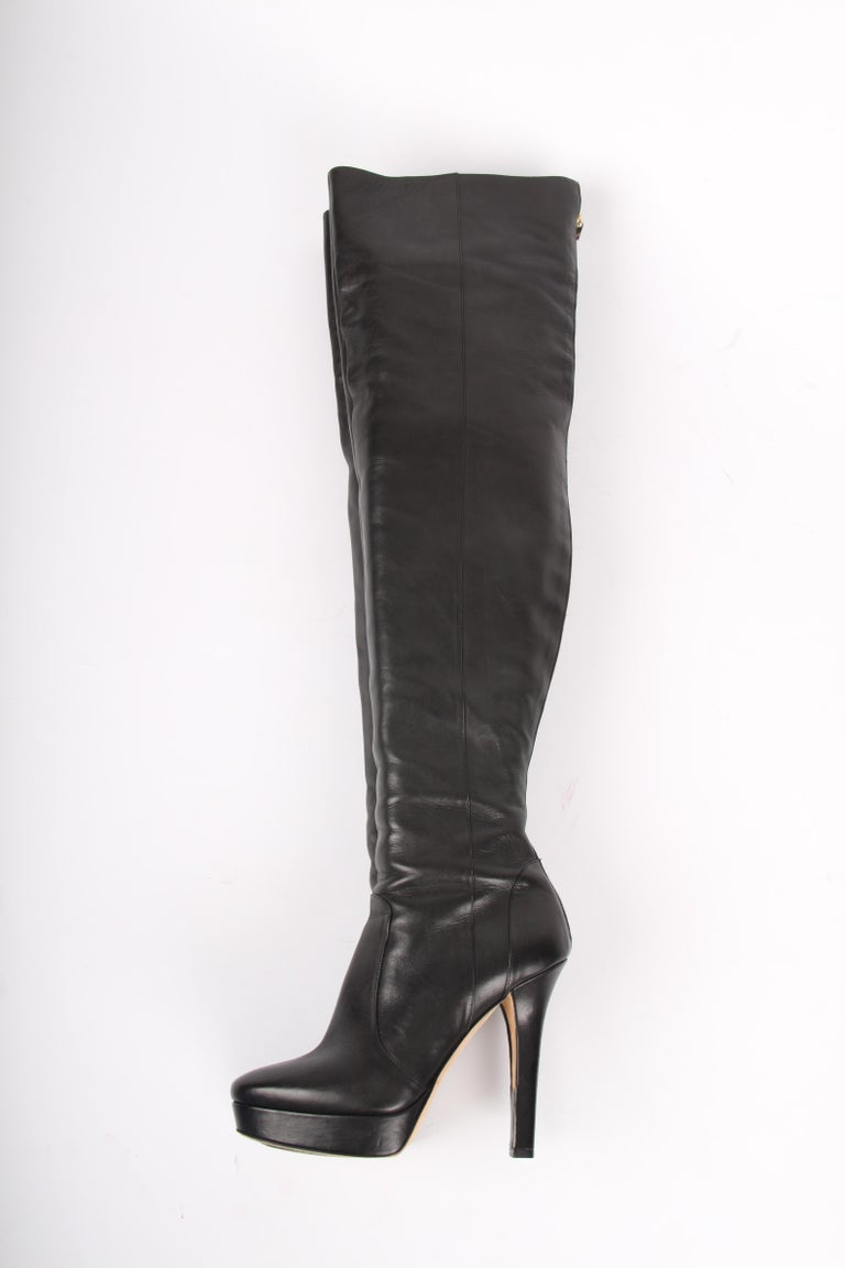 Black   Jimmy Choo black Over knee Platform Boots For Sale