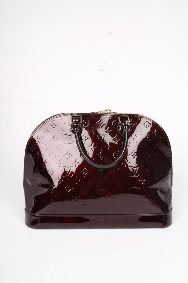 fe15f64facfc Louis Vuitton Alma GM Tote Bag - burgundy patent leather at 1stdibs