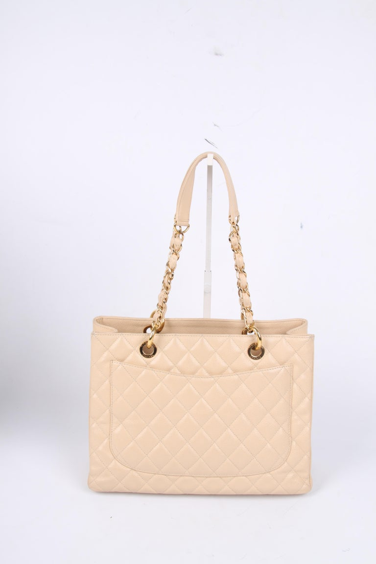 Chanel Grand Shopper Bag - beige caviar leather    For Sale 1