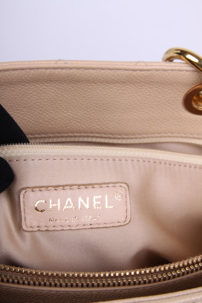 Beige   Chanel Grand Shopper Bag - beige caviar leather    For Sale