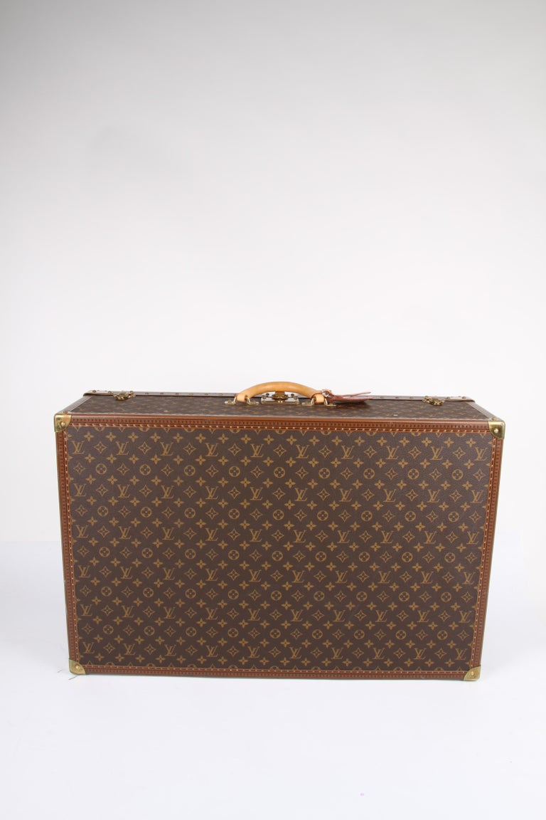 Louis Vuitton Monogram Trunk Suitcase - brown   Louis Vuitton Monogram Trunk S For Sale 1