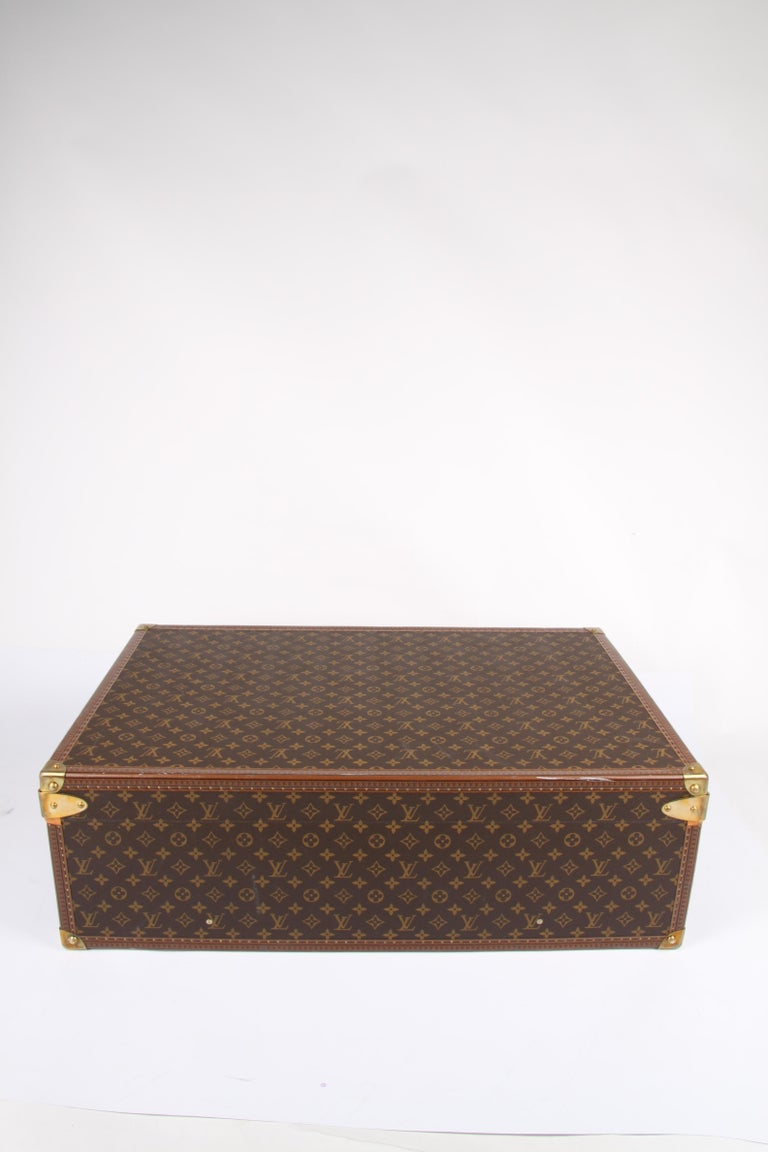 Brown   Louis Vuitton Monogram Trunk Suitcase - brown   Louis Vuitton Monogram Trunk S For Sale