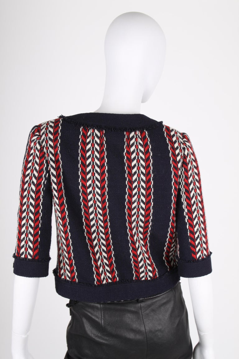 Women's or Men's   Chanel Wool Jacket - blue/red/white    For Sale