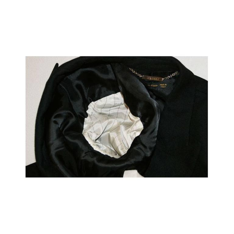 """Alexander McQueen """"What a Merry Go Round"""" Black Wool Wrap Jacket Coat, A/W 2001  For Sale 3"""